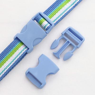 流行颜色的塑料扣滴答25毫米(天蓝色)