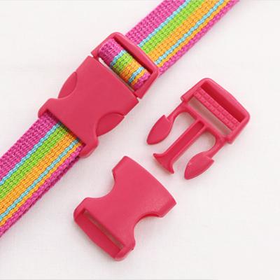 流行颜色的塑料扣滴答25毫米(金粉色)