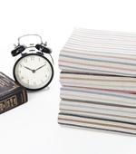 亚麻色织)复古条纹五种纺织品印花