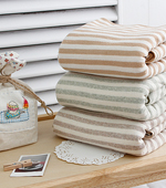 3种有机美兰毛圈毛巾温和条纹
