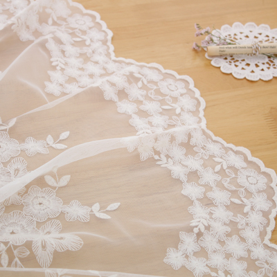 显著 - 最优秀的网布花边)沙龙(2种)