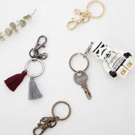 2EA)O型圈钥匙圈装饰(4种)