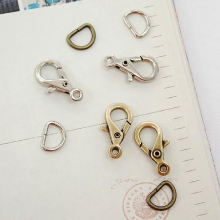 2EA)挂钩联系+ D戒指(10毫米)(2种)