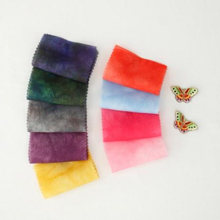 服装时)水利先进的丝绸 - 是兰花(9color)