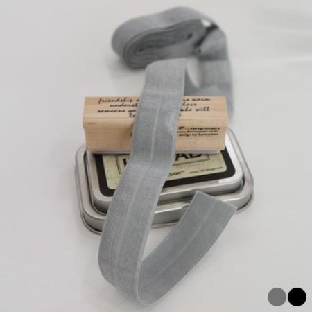 2麻)弹性扎头发带折叠第二版(2color)