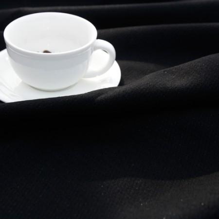 显著 - 羊毛混纺织物)现代时尚(黑)
