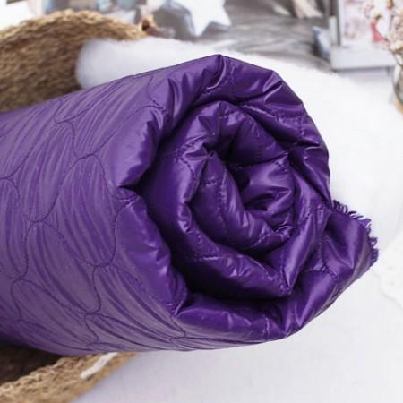 显著双面绗缝)防风衣唇紫填充材料