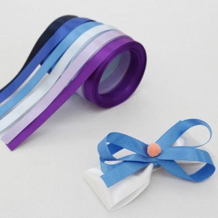 5麻)10毫米绸缎带_蓝色版本(6种)