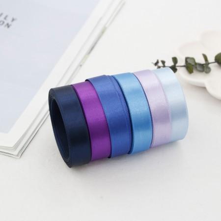5麻)15毫米绸缎带_蓝色版本(6种)