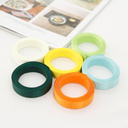 5麻)15毫米缎子胶带_黄绿色版本(6种)
