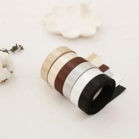 5麻)15毫米白色缎子棕色胶带_版本(6种)