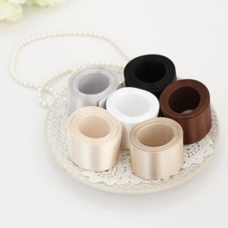5麻)40毫米白色缎子棕色胶带_版本(6种)