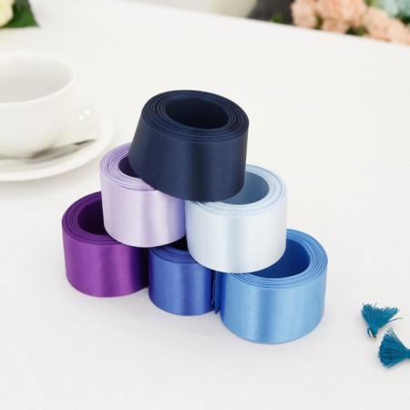5麻)40毫米绸缎带_蓝色版本(6种)