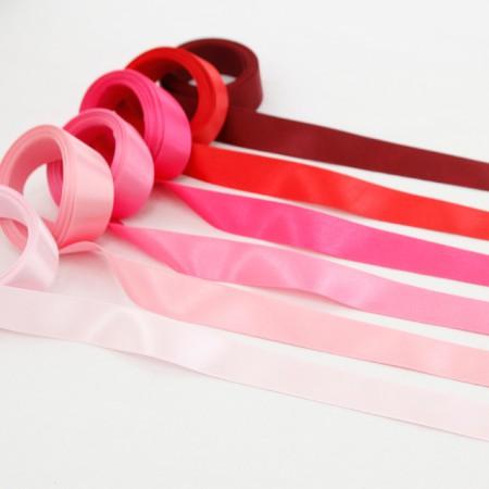 [5麻]缎带)25毫米粉色版本(6种)
