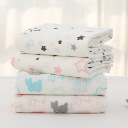 [完成]每只兔子印花棉布尿布)(4种)
