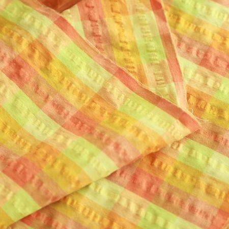 棉混纺30可纹波)格子(2种)