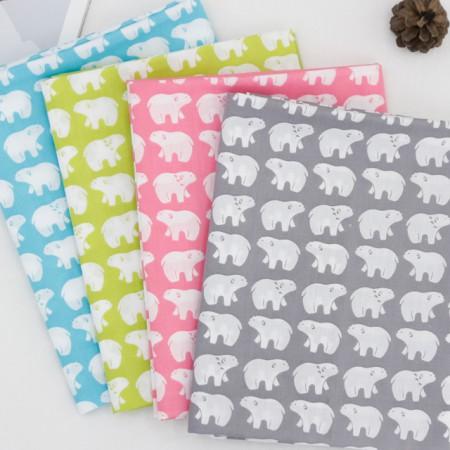 棉混纺织物)北极熊(4种)