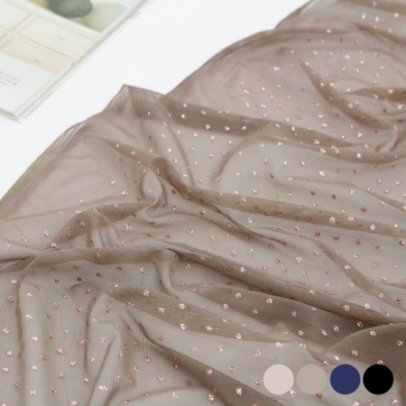 显著跨度网眼织物)光泽的珍珠(4种)