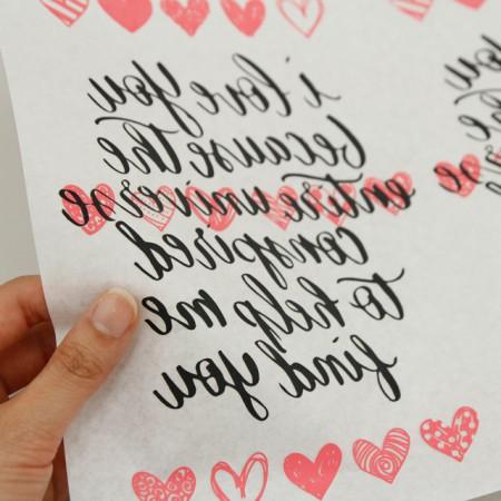 纸转印纸)爱刻字
