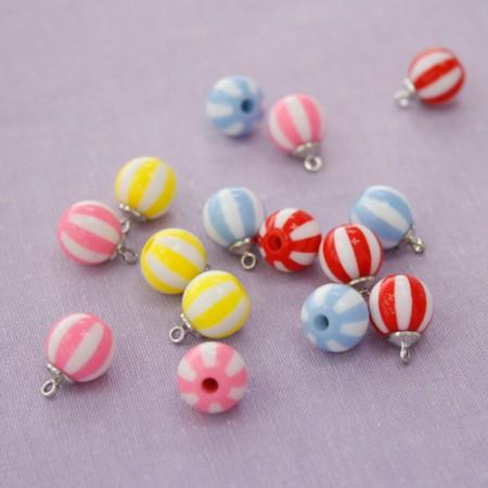 4个)条纹珠(4种)