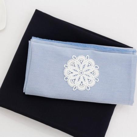 纺人造丝织物)夏令蓝(2种)