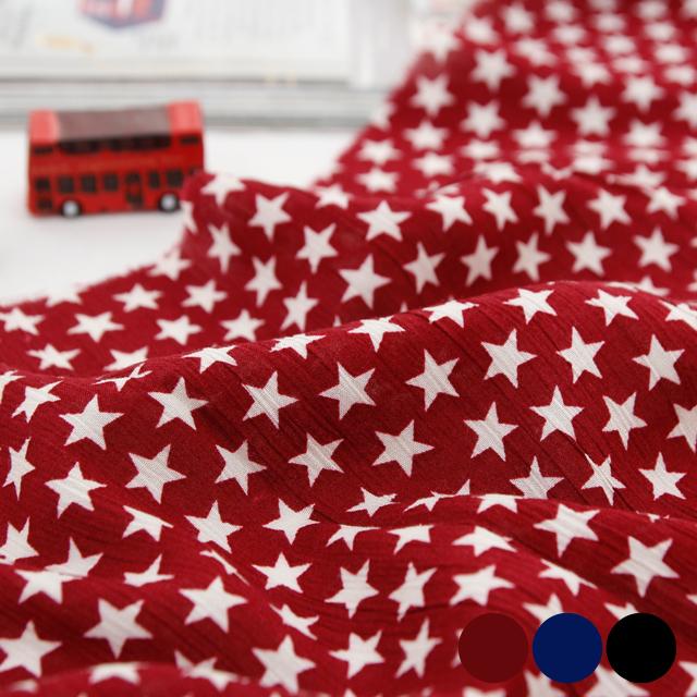 夜人造丝织物)星星(3种类型)