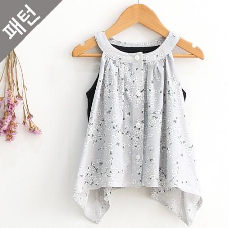 图案 - 儿童)儿童女衬衫[P665]