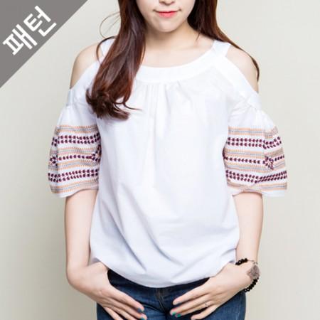 图案 - 儿童)妇女女衬衫[P890]