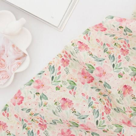显著 - 亚麻织物)水彩春花(2种)