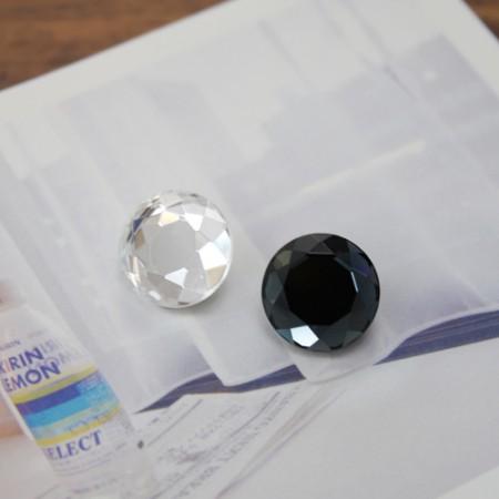高级点)15毫米宝石按钮(2种)