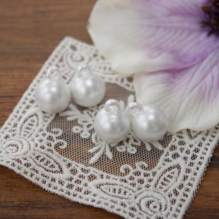 [4个]珍珠环按钮(2种)