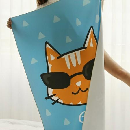 第二密度超细纤维运动毛巾没有)寻求猫[004]