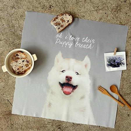 冲突切麻纸)微笑的小狗