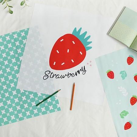 冲突麻纸剪成)草莓(3种)