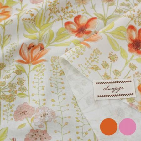 最好DTP20是织造织物)水彩野花(2种)