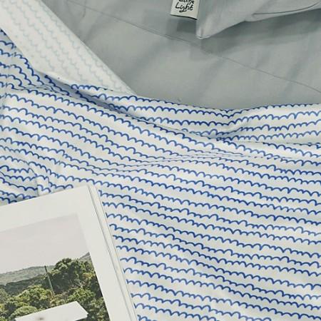 显著 - 最好的超细纤维)水彩波(蓝色)[064]