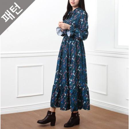 图案 - 女)连衣裙[P858]