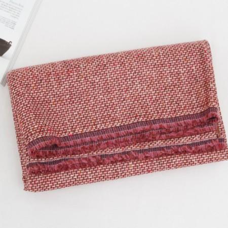 大幅 - 进口羊毛混纺织物)桃红葡萄酒