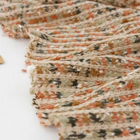 显著编针织布)天然桔子