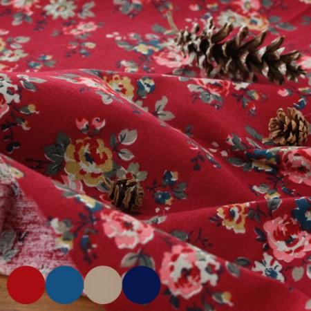 显著 - 拉绒棉织物)玫瑰园(4种)