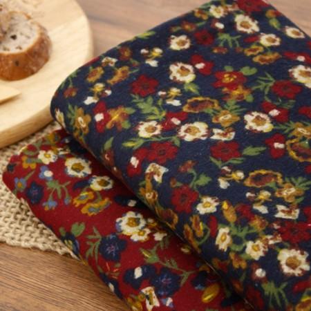 显著 - 拉绒棉织物)野花(2种)