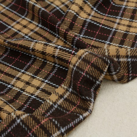 显著 - 羊毛混纺织物)检查 - 布朗