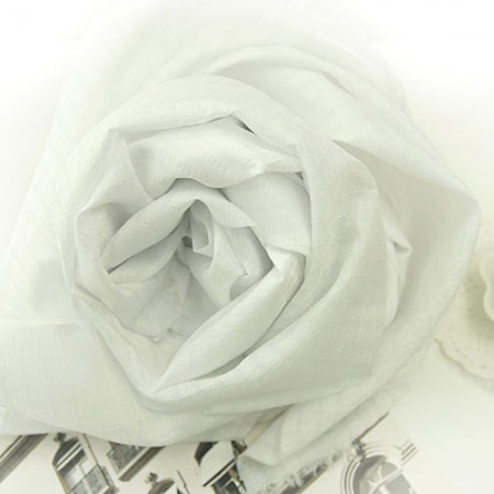 显著 - 人造丝波纹)魔鬼白色人造丝[1309]