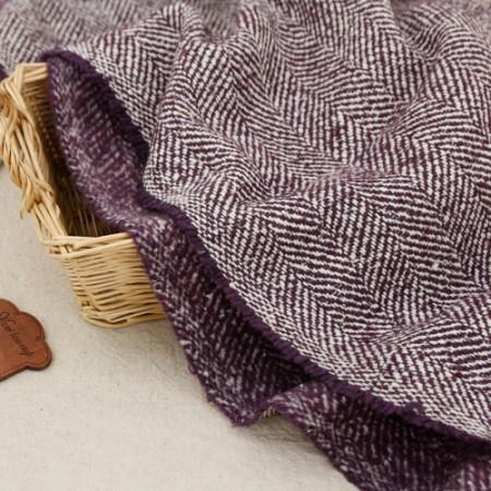 显著 - 羊毛混纺织物)紫HAERING