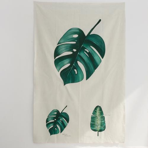亚麻切纸)植物园 - 龟背竹