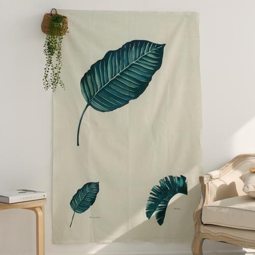 亚麻切纸)植物园蕉叶