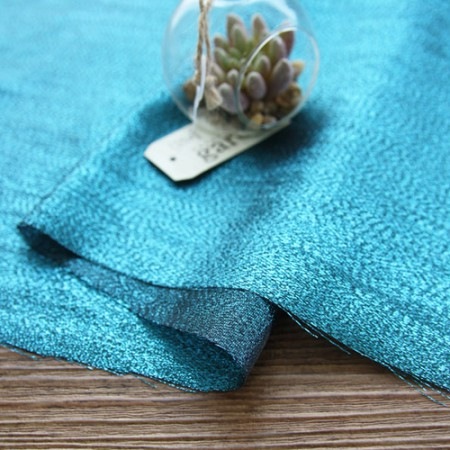 显著 - 珍珠绸缎面料)蓝绿色