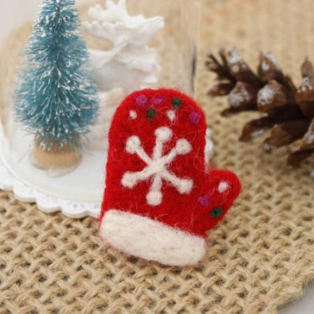 毛毡毛毡圣诞手套