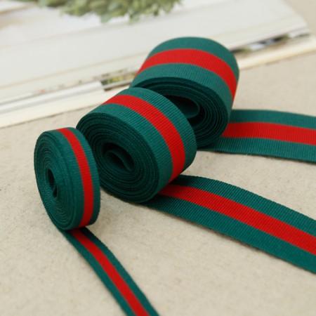 豪华丝带磁带绿色红丝带串(3麻/ 3种)