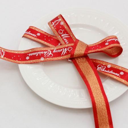 魅力丝带丝带纸巾丝带25毫米红色(3麻)